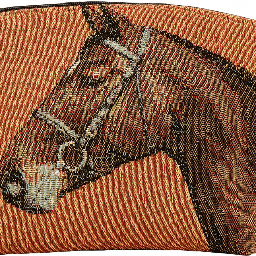 Tapestry cosmetic bag horses