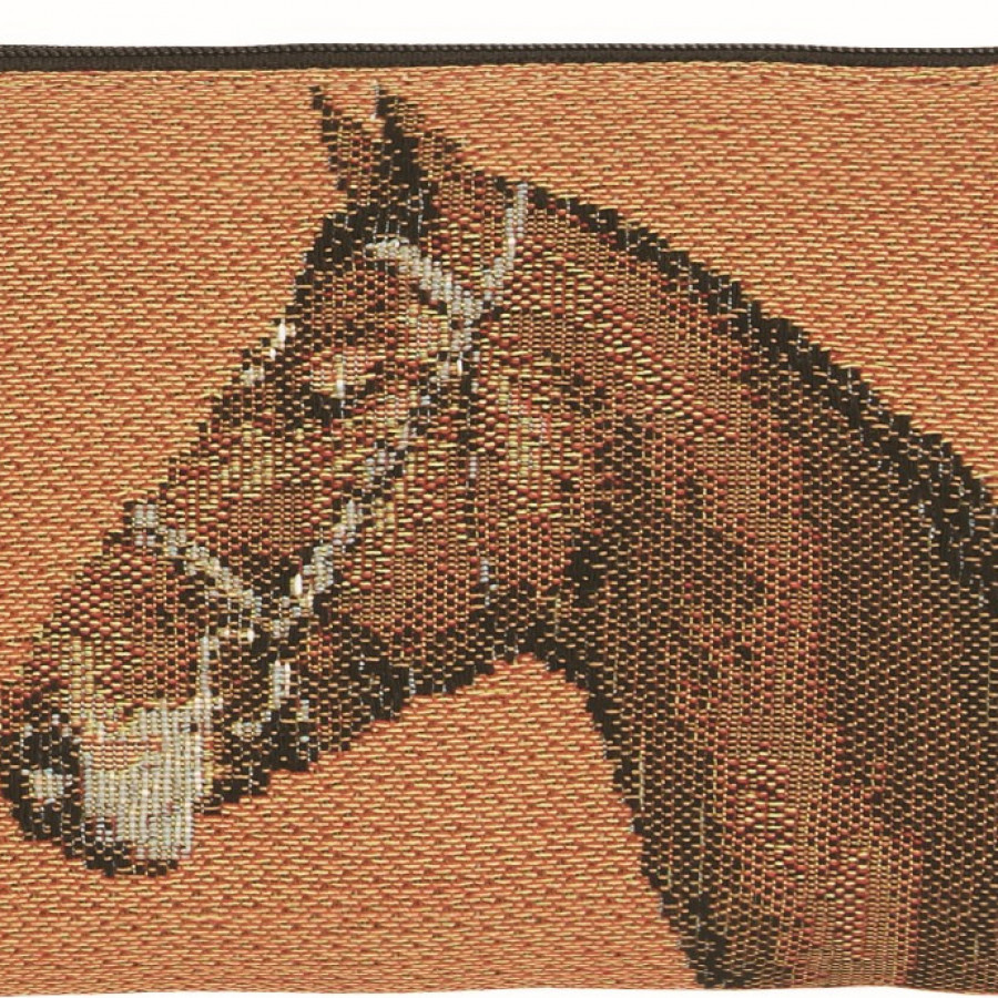 Tapestry purse Horses