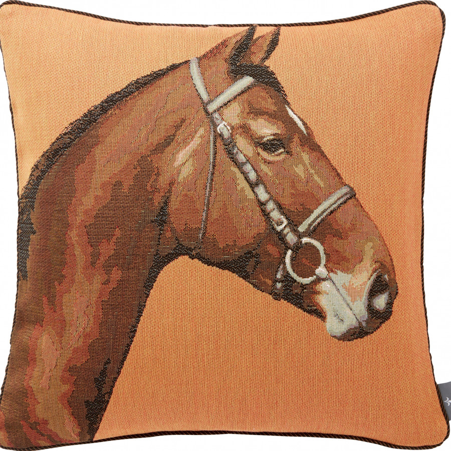Tapestry cushion cover Horse head