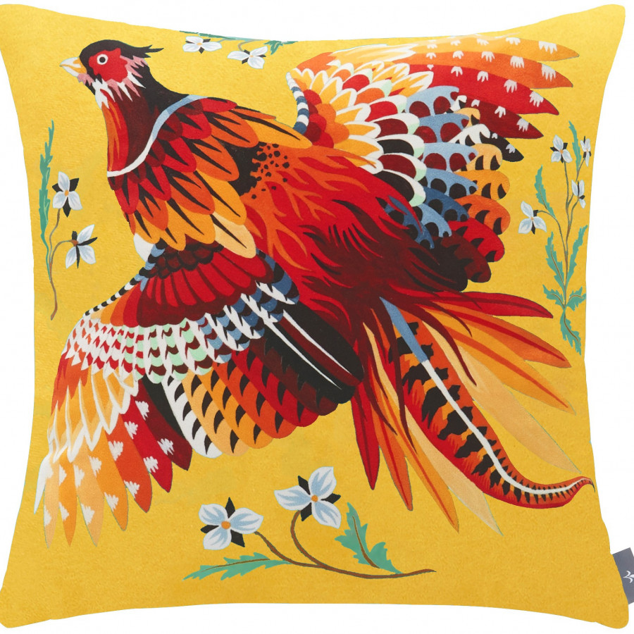 Printed cushion cover Pheasant