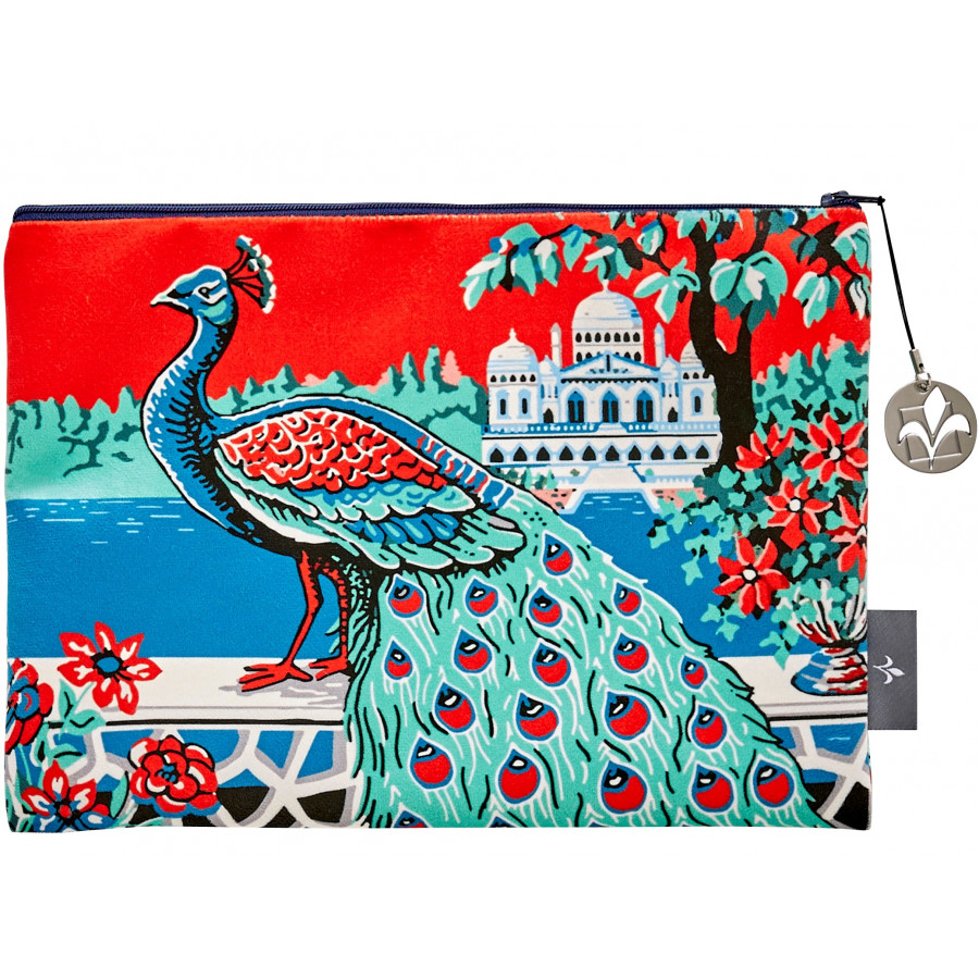 Printed purse Peacock