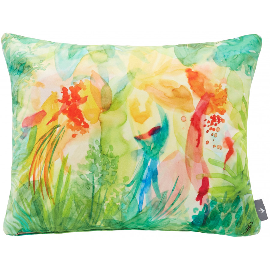 Printed cushion cover watercolor Jungle