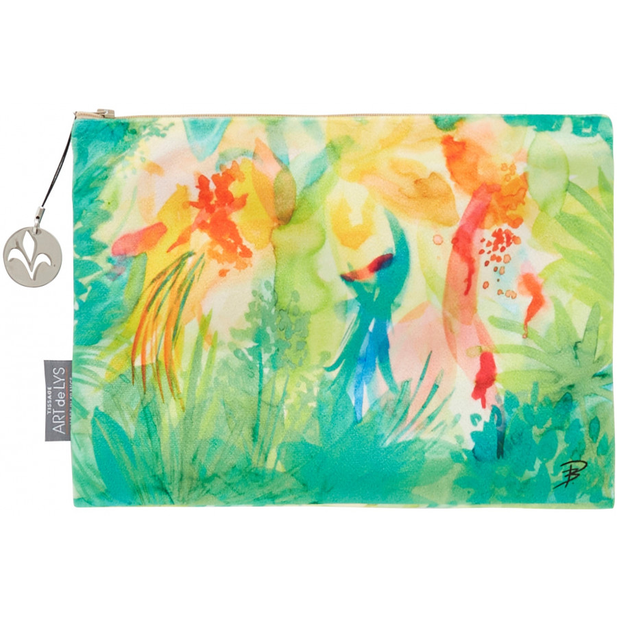 Printed purse watercolor Jungle