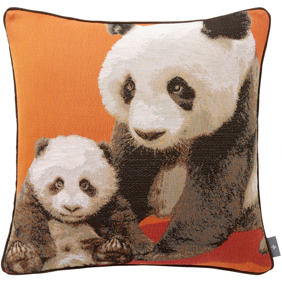 Tapestry cushion cover Panda and baby