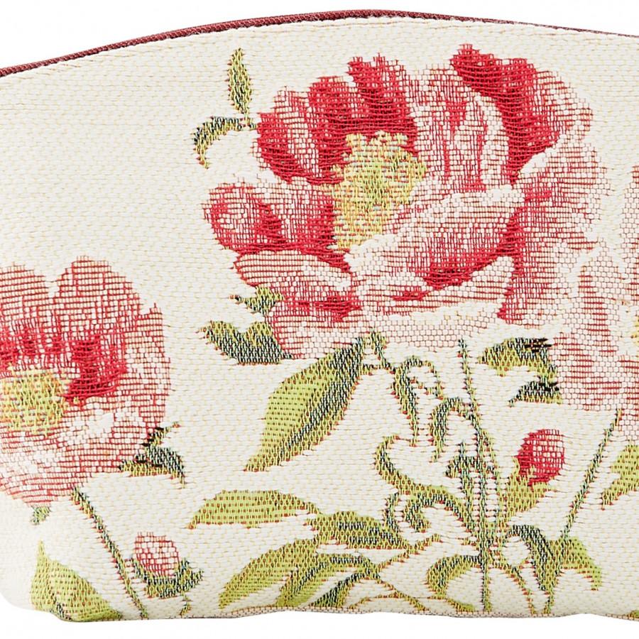 Tapestry cosmetic bag peonies