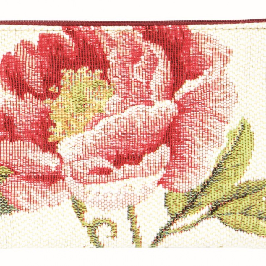 Tapestry purse Peonies