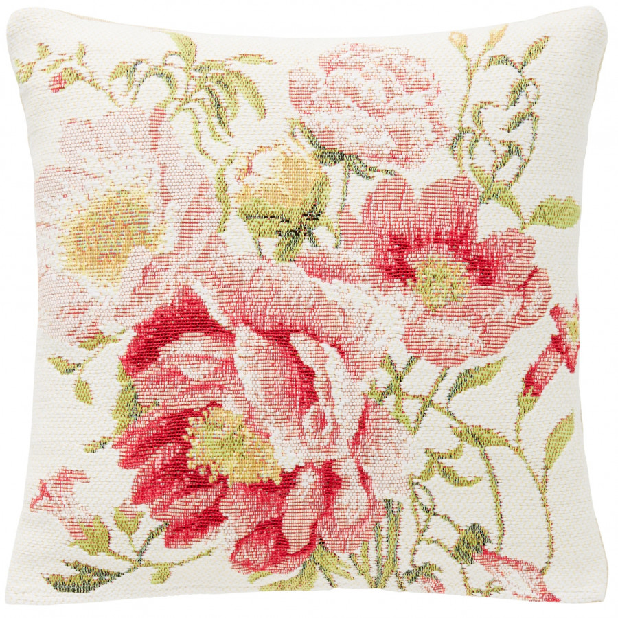 Small tapestry cushion multi peonies