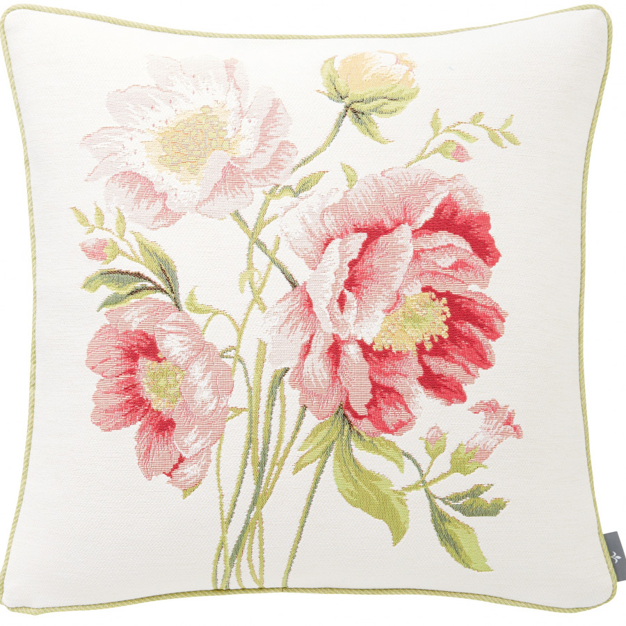 Tapestry cushion cover bouquet peonies