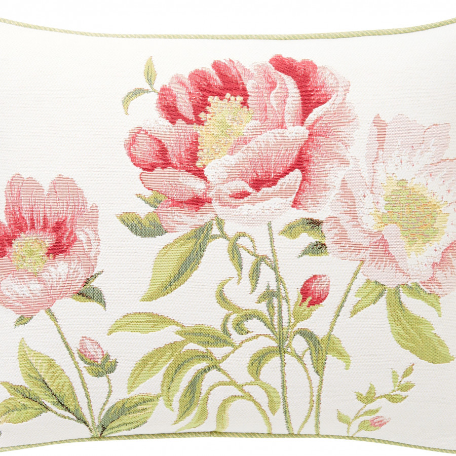Tapestry cushion cover three peonies