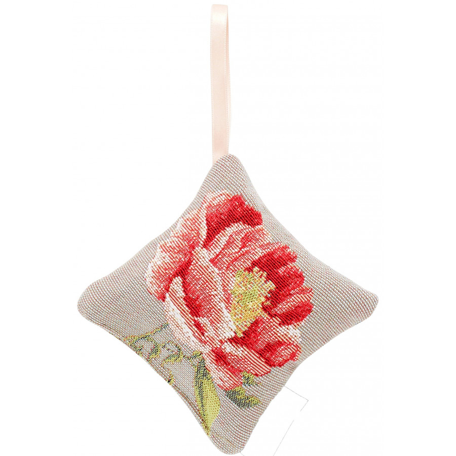 Scented tapestry mini cushion Peonies flower