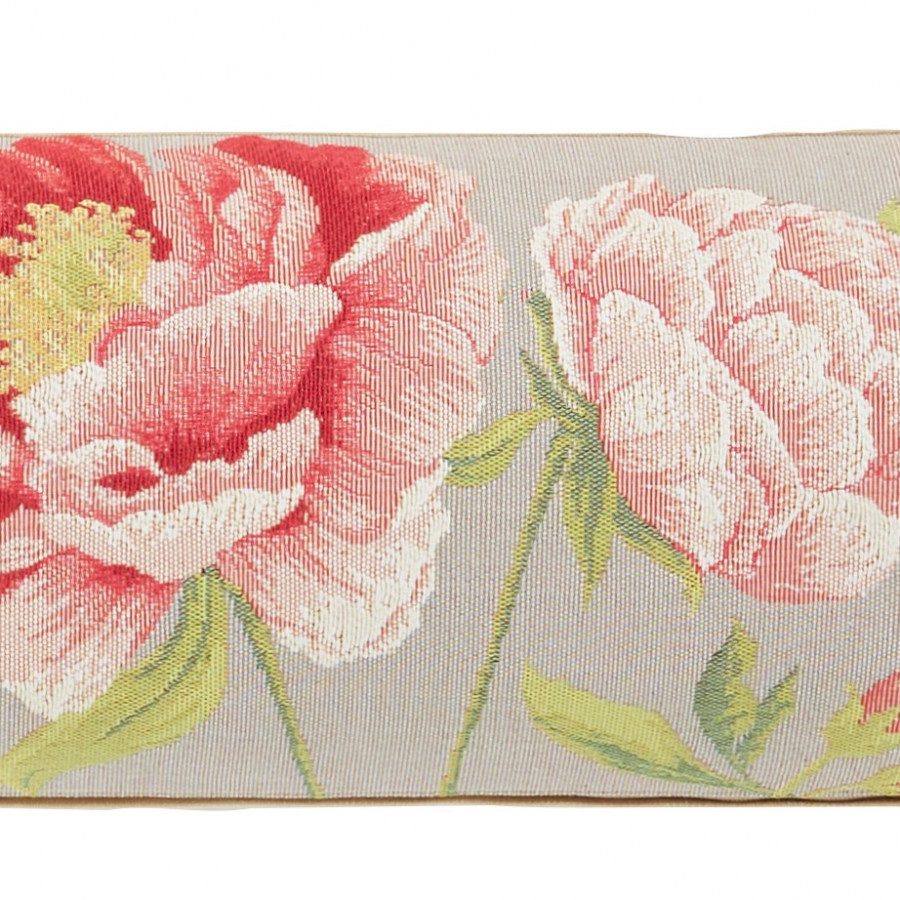 Tapestry cushion cover peonies
