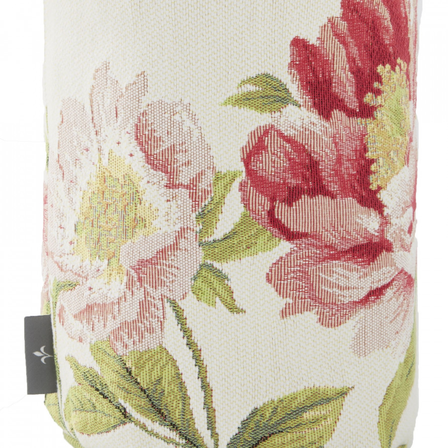 Small tapestry basket peonies