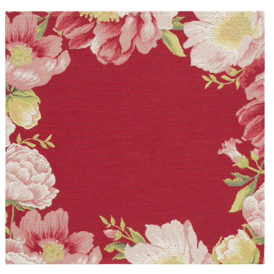 Table's center tapestry peonies