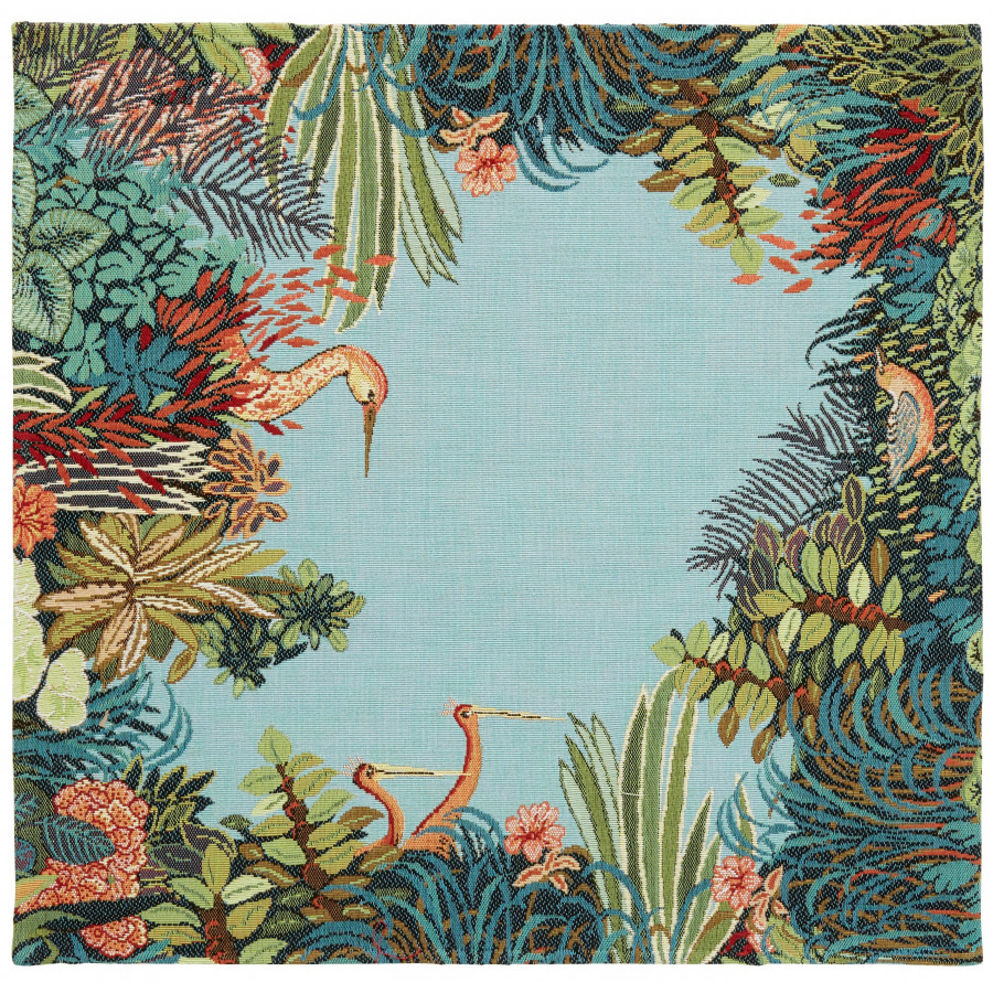 Table's center tapestry Heron Forest
