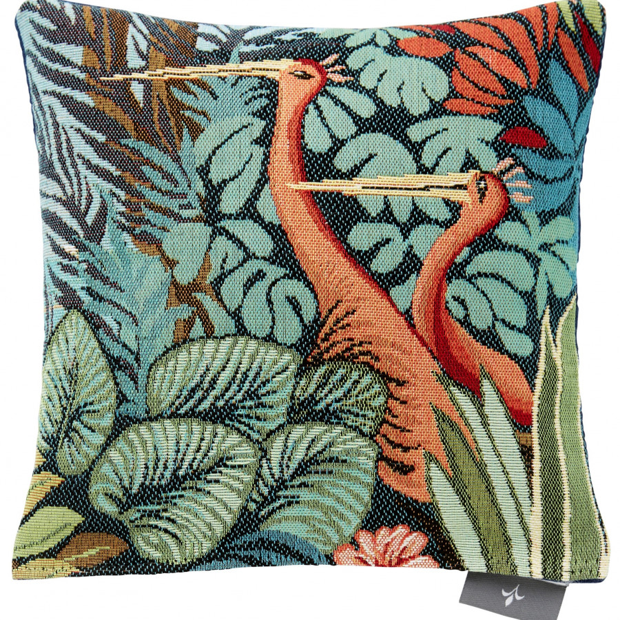 Small tapestry cushion Birds in a Forest