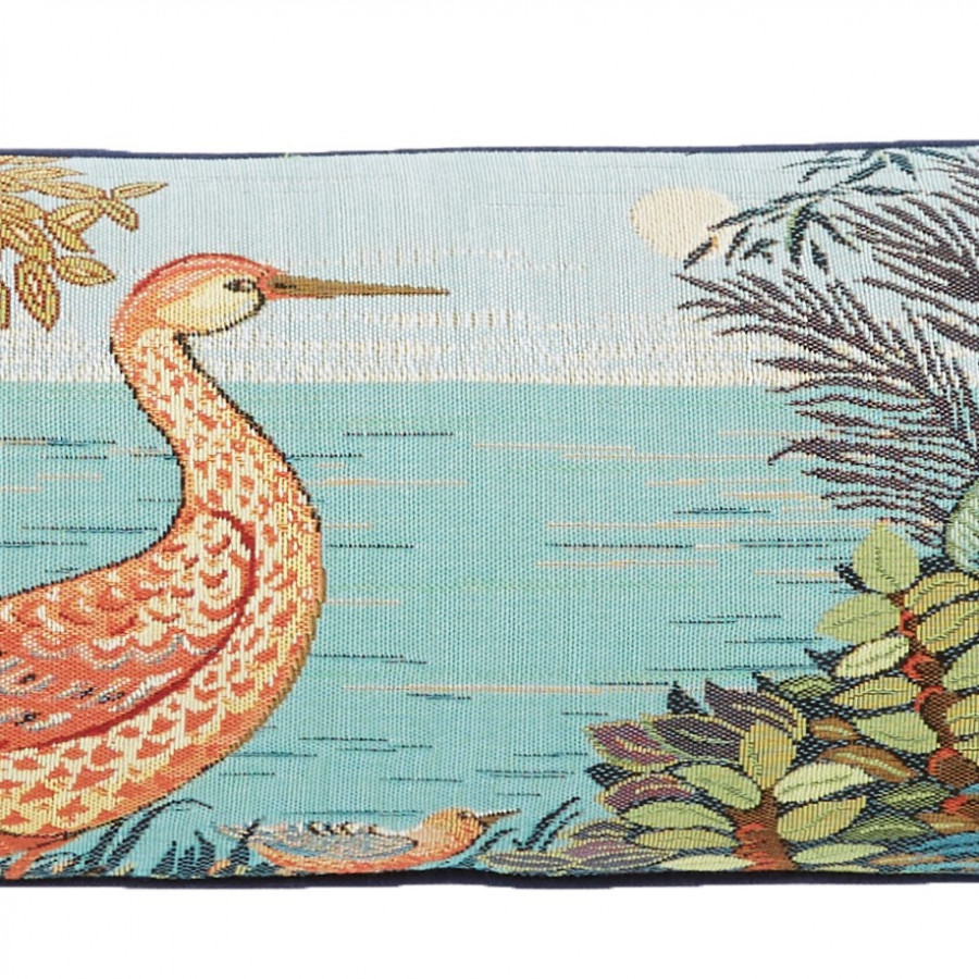 Tapestry cushion cover Birds in a forest
