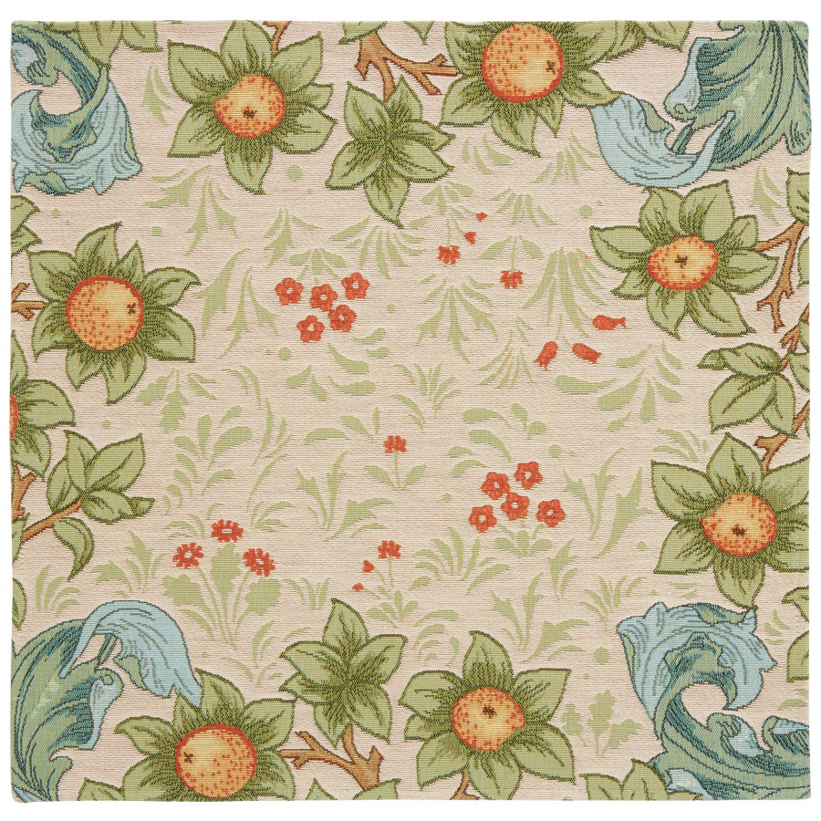 Table's center tapestry Orange Arabesques