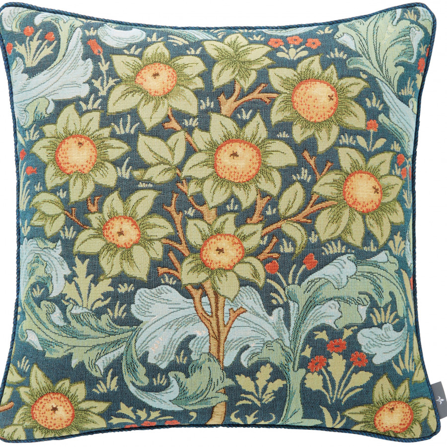 Tapestry cushion cover multi orange