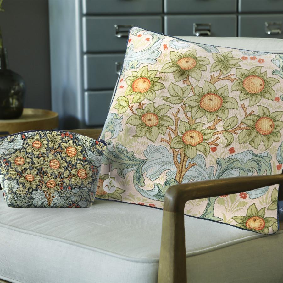 Housse de coussin tapisserie Oranger
