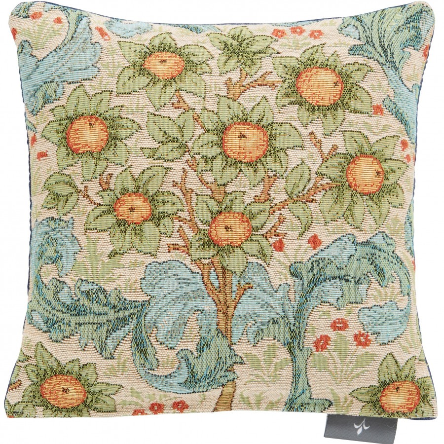 Small tapestry cushion orange