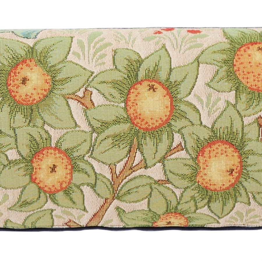 Tapestry cushion cover orange
