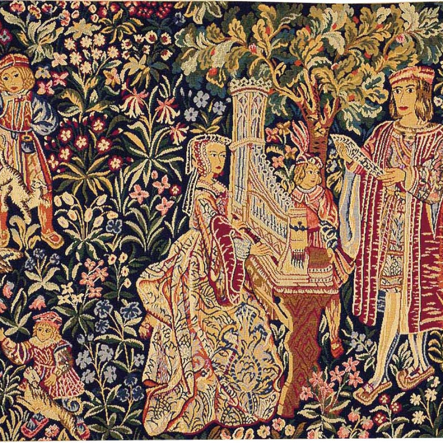Tapestry Lady with organ