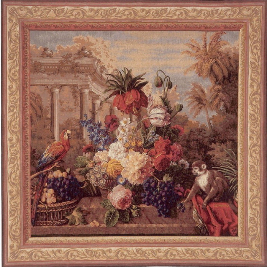 Tapestry Bouquet exotique, square