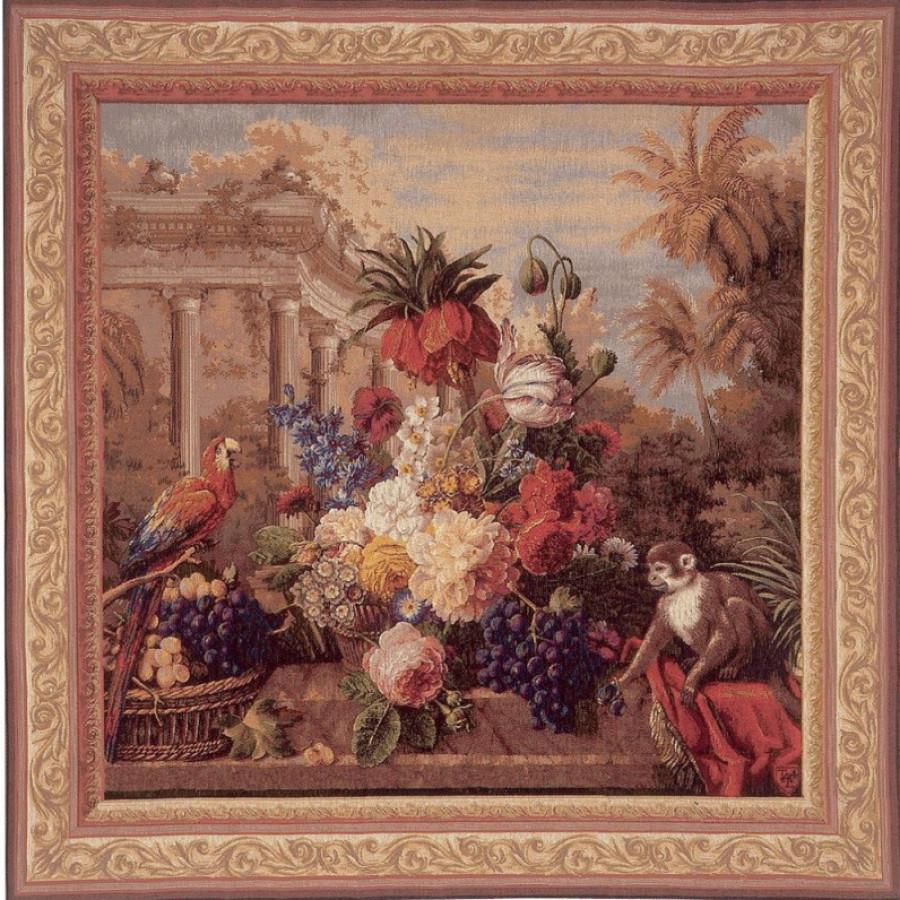 Tapisserie Bouquet exotique, carré