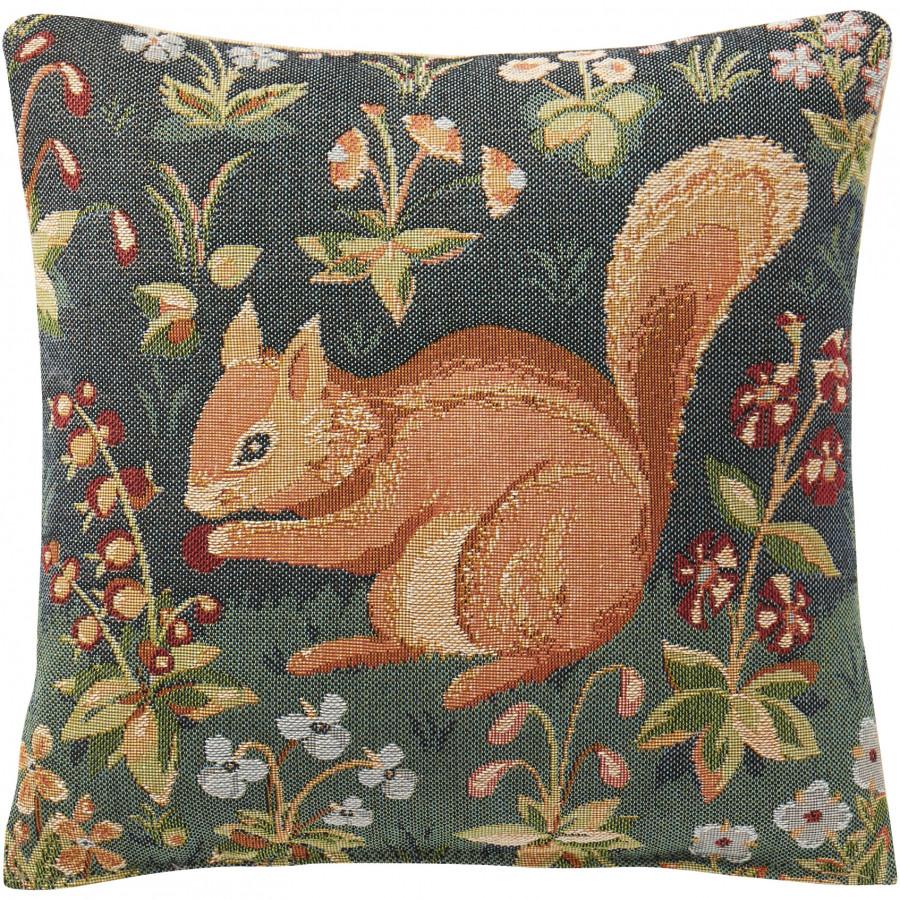 Housse de coussin écureuil médiéval
