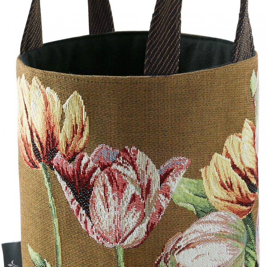 PA5764 : Tulips, brown background