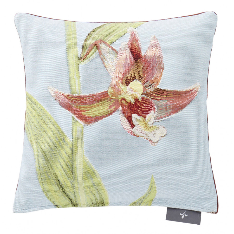 Small tapestry cushion Two Orchids