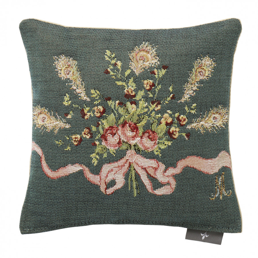 Small tapestry cushion Roses and pansies Marie Antoinette