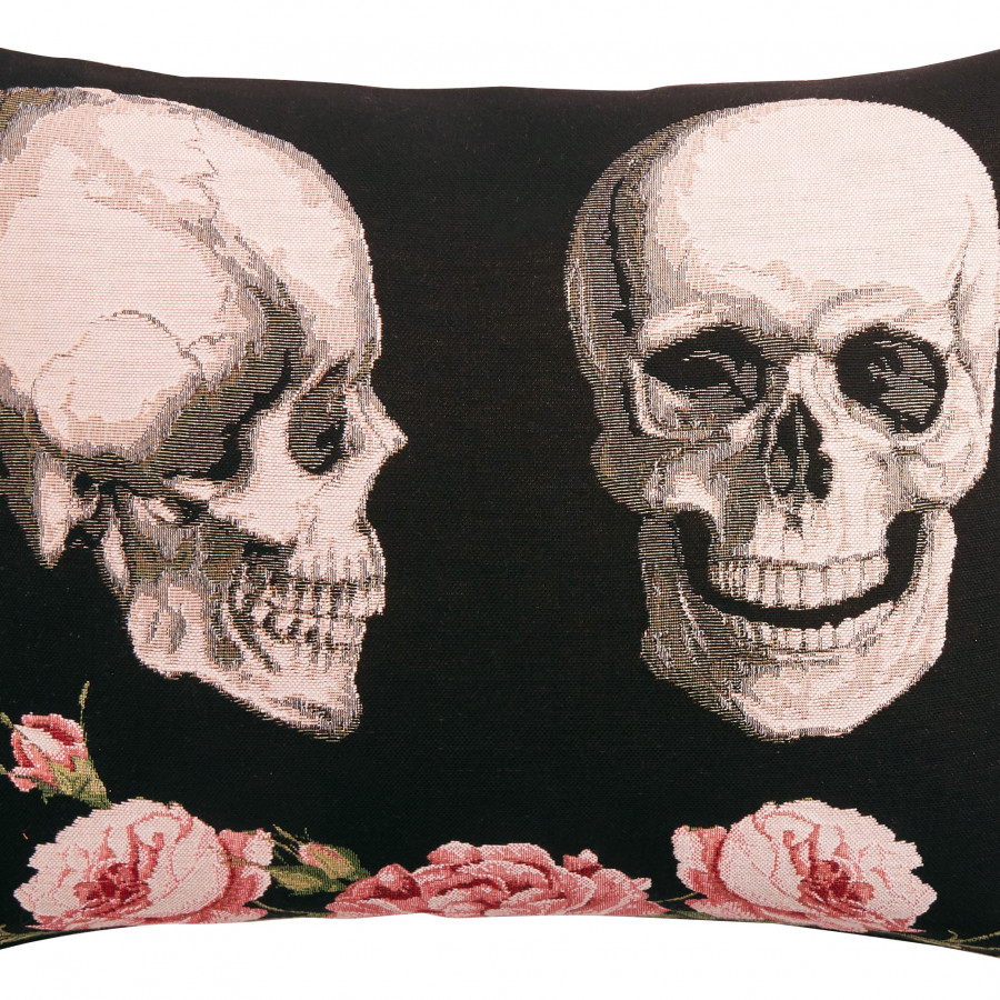 Tapestry cushion cover 2 Skull and Roses