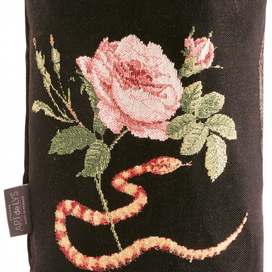 Small tapestry basket Skull Rose Snake