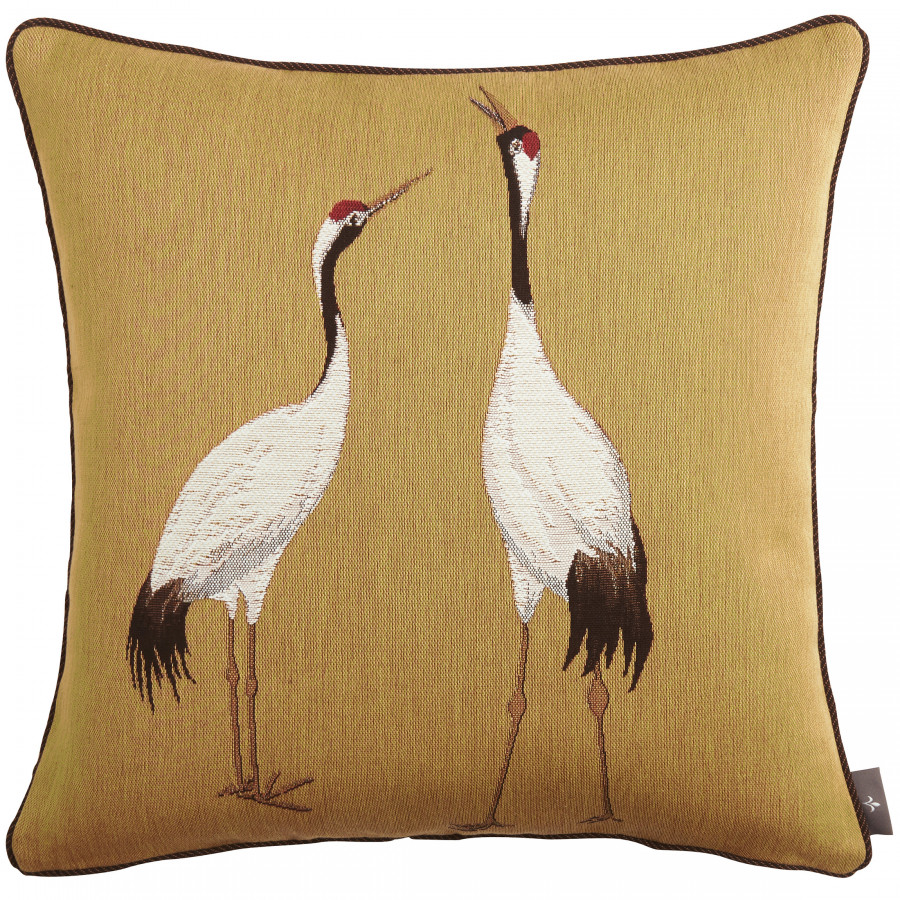 Cushion cover Tapestry Two white cranes