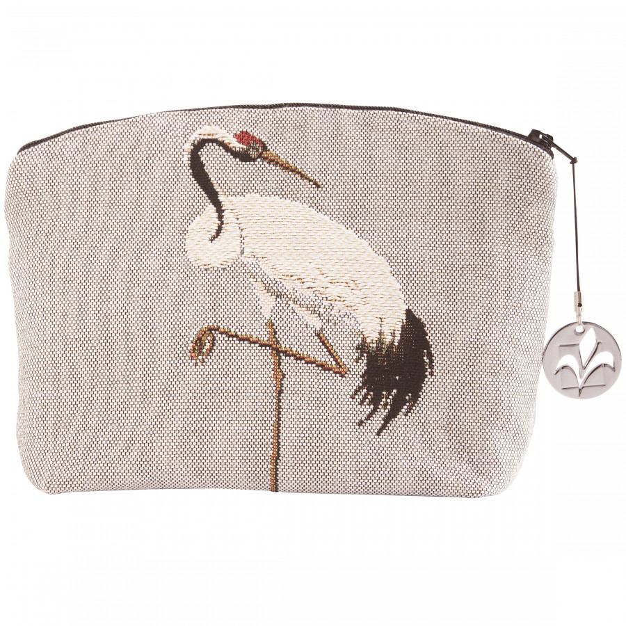 Cosmetic bag Tapestry White cranes
