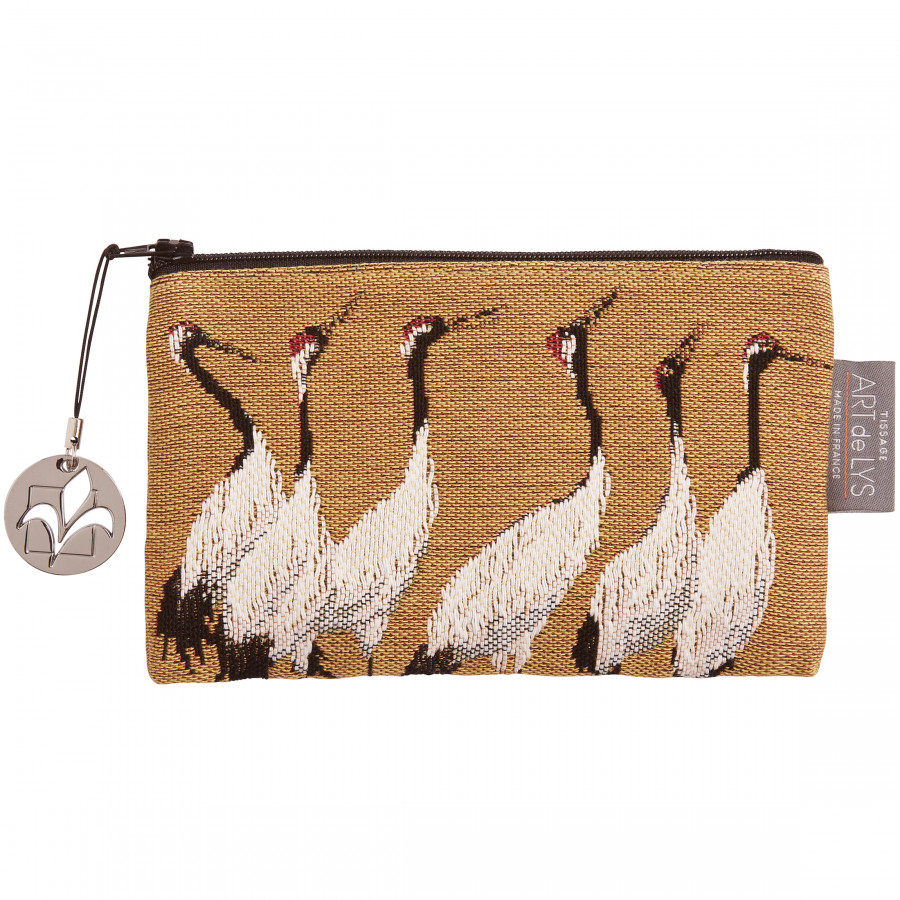 Purse Tapestry White cranes
