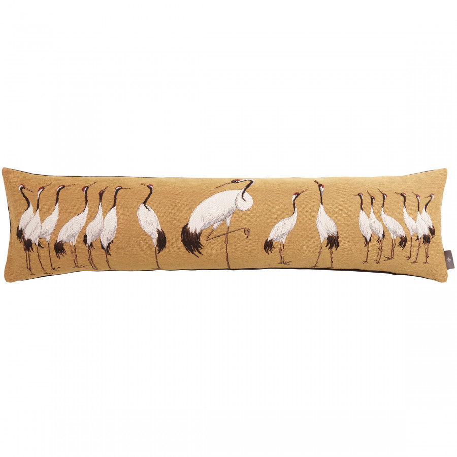 Housse de coussin tapisserie Grues blanches