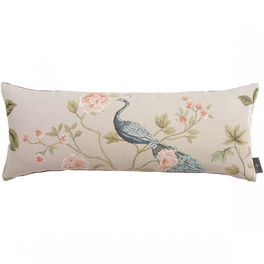 Tapestry cushion cover Pomegranate Peacock