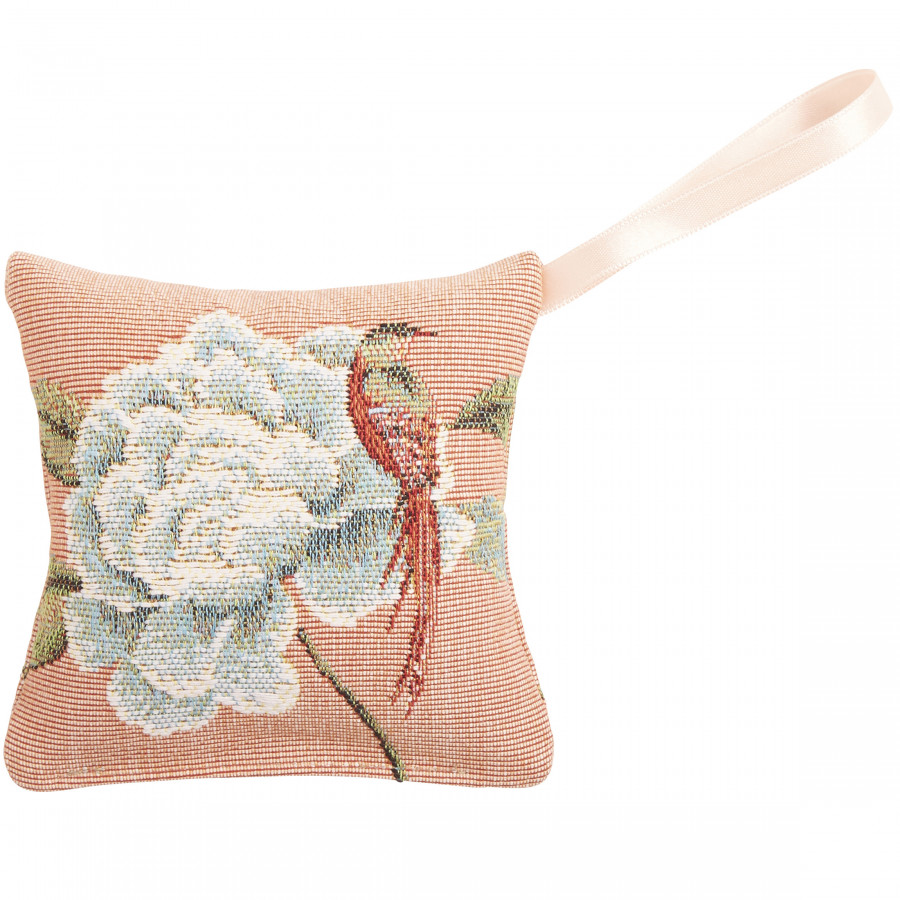 Scented tapestry mini cushion Pomagranate and birds