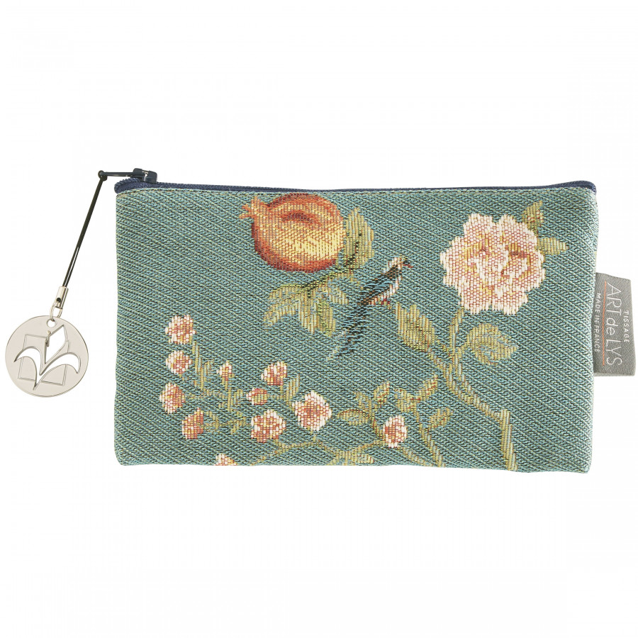 Tapestry purse Pomegranate and birds