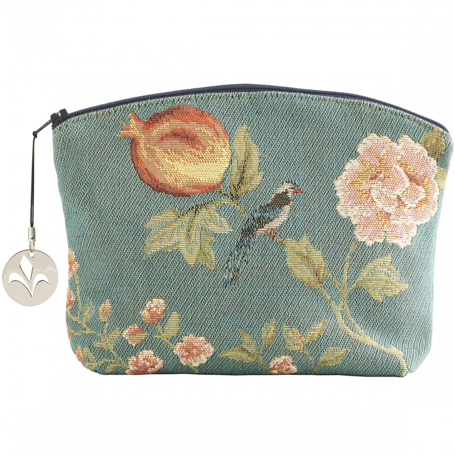 Tapestry cosmetic bag Pomegranate and birds