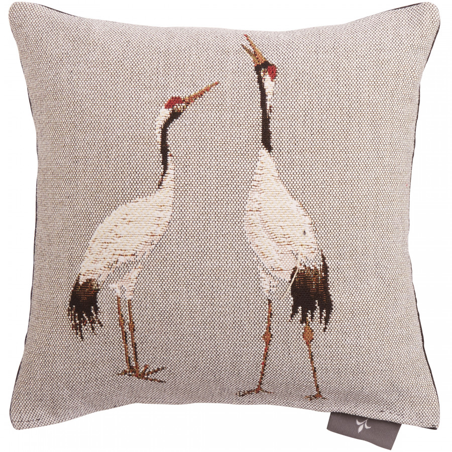 Cushion cover Small Tapestry One white crane