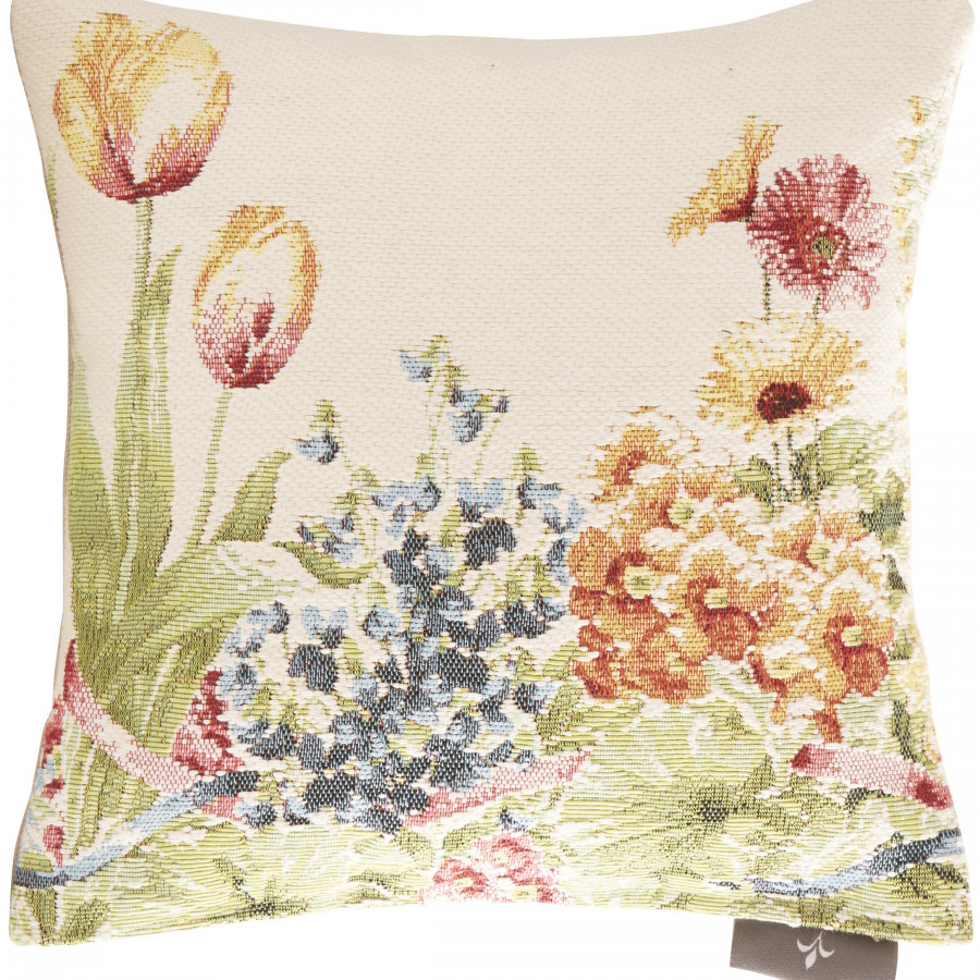 Petit coussin tapisserie Jardin de fleurs