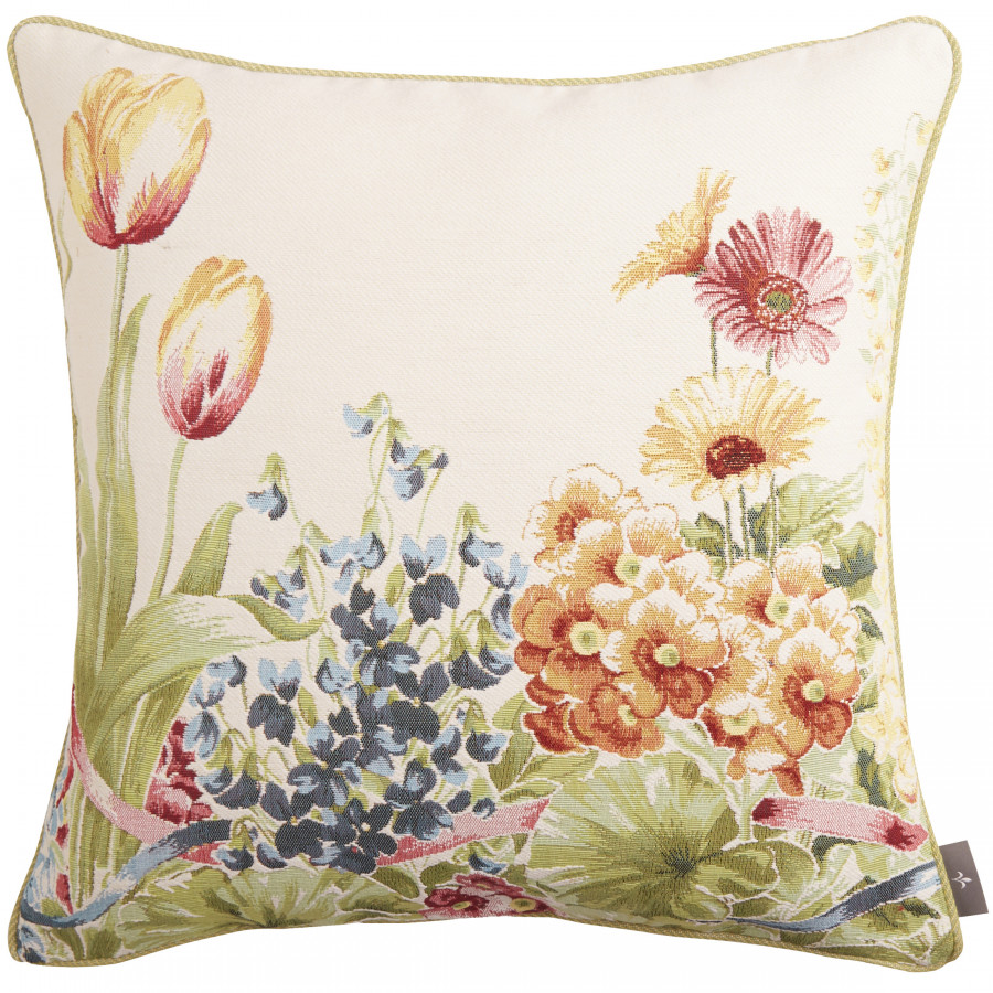 Cushion cover Tapestry Flower garden