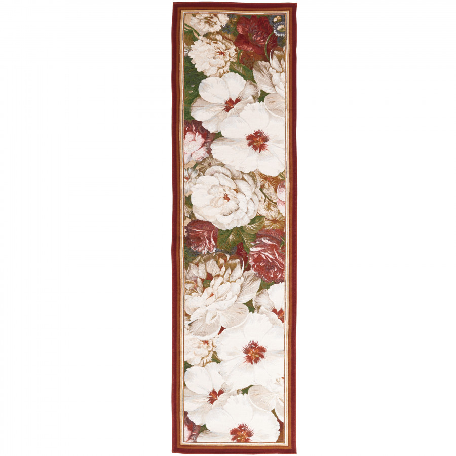 Tapestry runner Classical bouquet