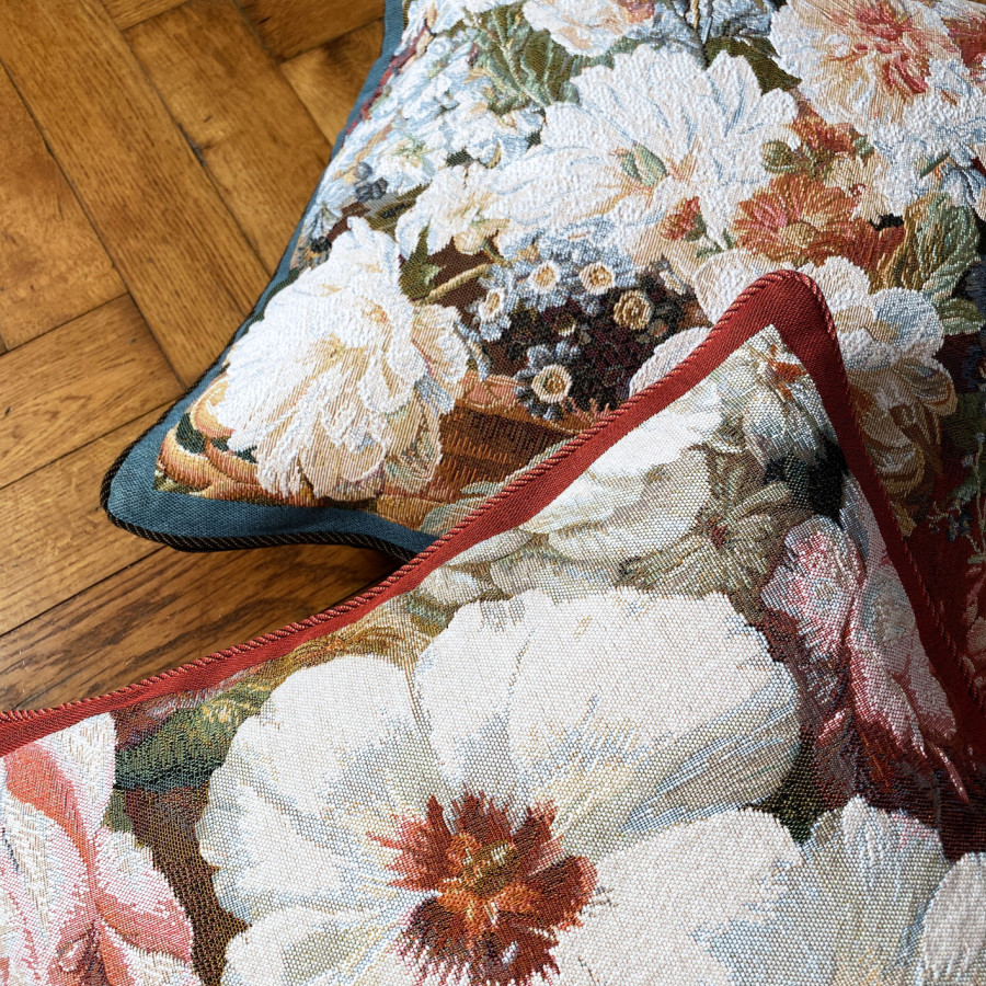 Cushion cover Tapestry Rose Tulip peony