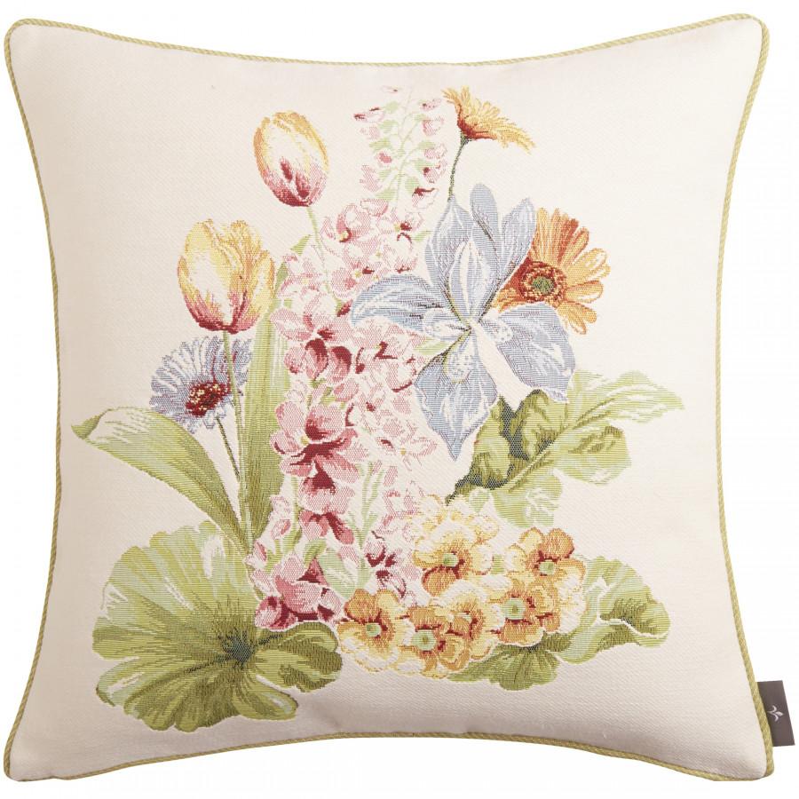 Coussin tapisserie Bouquet de fleurs