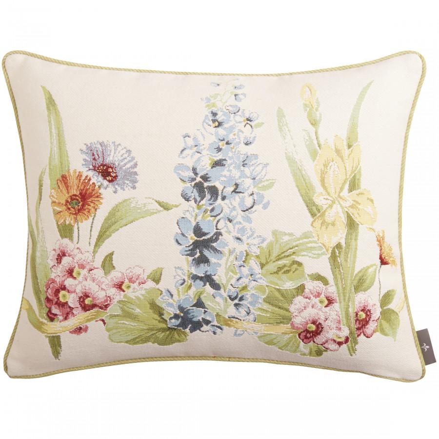 Coussin tapisserie Rangée de fleurs