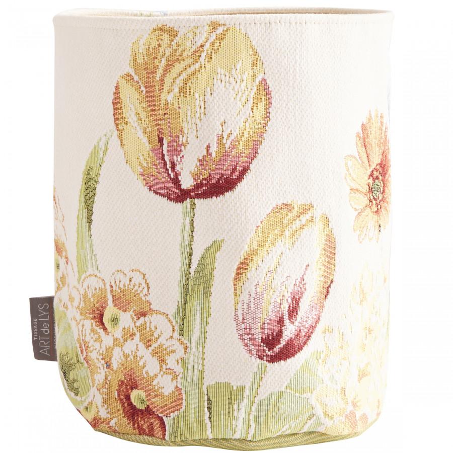 Petit panier tapisserie Parterre de fleurs